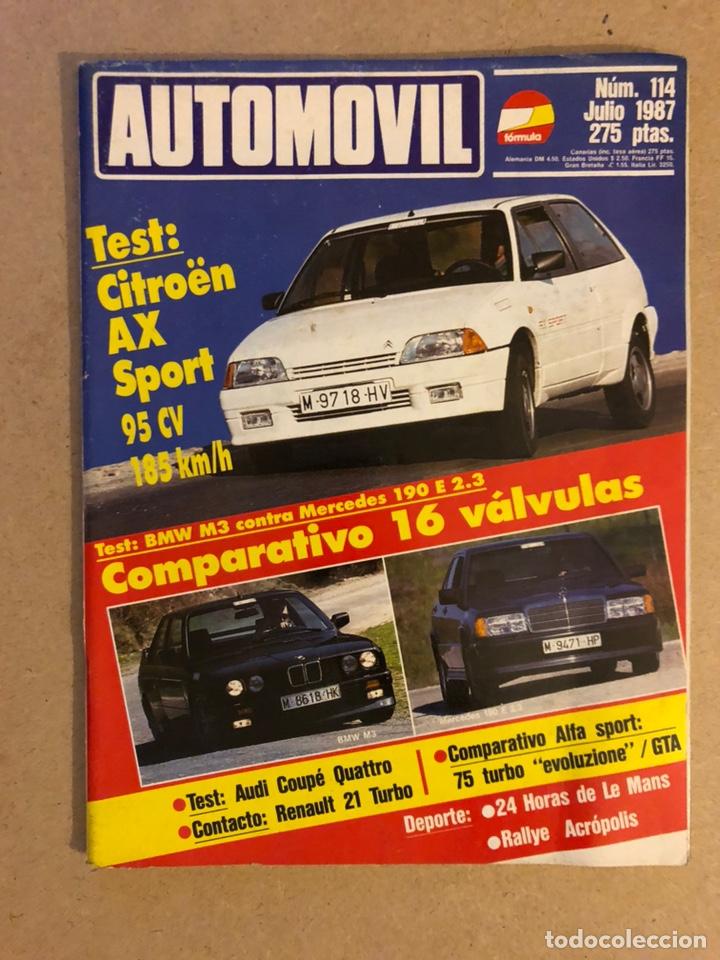 AUTOMÓVIL N° 114 (JULIO 1987). CITROËN AX SPORT, BMW M3 VS MERCEDES 190 E 2.3, AUDI COUPÉ QUATTRO, A (Coches y Motocicletas Antiguas y Clásicas - Revistas de Coches)