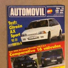 Coches: AUTOMÓVIL N° 114 (JULIO 1987). CITROËN AX SPORT, BMW M3 VS MERCEDES 190 E 2.3, AUDI COUPÉ QUATTRO, A. Lote 158484528