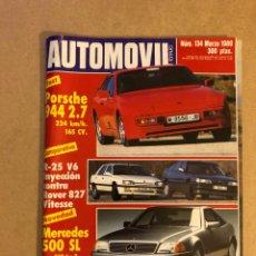 Coches: AUTOMÓVIL N° 134 (MARZO 1989). PORSCHE 944 2.7, R-25 V6 VS ROBER 827 VITESSE, MERCEDES 500 SL,... Lote 158484946