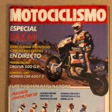 Voitures: MOTOCICLISMO N° 1088 (ENERO 1989). ESPECIAL DAKAR, CAGIVA 500 G.P., HONDA CBR 600 F-2, HONDA NSR 80,. Lote 158605037