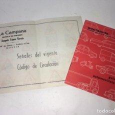 Coches: ORIGINAL LIBRO LIBRITO CATÁLOGO COCHE COCHES CIRCULACIÓN. Lote 158657498