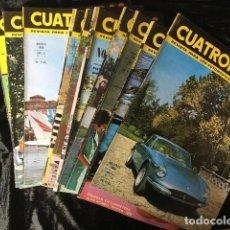 Coches: 10 REVISTAS CUATRORUEDAS - 1966 - NOS 1-2-3-4-5-6-7-8-9-10. Lote 158715926