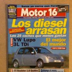 Coches: MOTOR 16 N° 843 (1999). AUSI TT ROADSTER 1.8 QUATTRO, VW LUPO, SAINZ EN FORD, NISSAN TERRANO,.... Lote 158758774