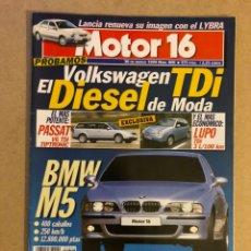 Coches: MOTOR 16 N° 806 (1999). BMW M5, VW PASSAT V6 TDI, LUPO TDI, LANCIA LYBRA,.... Lote 158760194