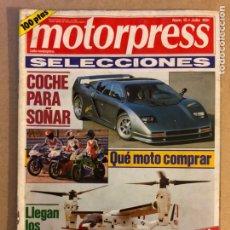 Coches: MOTORPRESS N° 15 (1991). FACT 4, CORVETTE ZR1, AVIONES HELICÓPTEROS,.... Lote 158871068