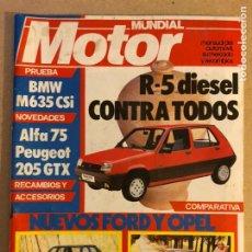 Coches: MOTOR MUNDIAL N° 481 (1986). RENAULT 5, BMW M635 CSI, FORD ESCORT, OPEL KADETT,.... Lote 158871518