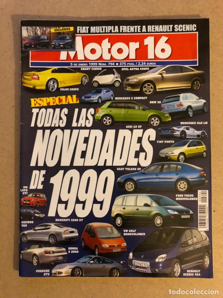 MOTOR 16 N° 794 (1999). HONDA S 2000, MASERATI 3200 GT, MERCEDES CLK LM, VW LUPO GTI,... (Coches y Motocicletas Antiguas y Clásicas - Revistas de Coches)