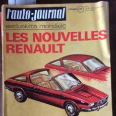 Coches: REVISTA AUTO JOURNAL NÚMERO 3 DE 1971 AUTOMÓVIL RENAULT. Lote 159119902