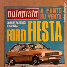 Coches: AUTOPISTA N° 890 (1976). FORD FIESTA, FORD TAUNUS GHIA 1.6, RALLYES, SUBIDAS,.... Lote 159442088