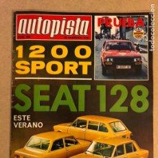 Coches: AUTOPISTA N° 889 (1976). SIMCA 1000 RALLYE 1.3, SEAT 128/124/131, SEAT 1200 SPORT,.... Lote 159442257