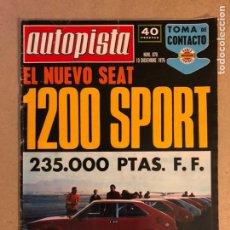 Coches: AUTOPISTA N° 878 (1975). PRUEBAS: SEAT 1200 SPORT Y FIAT 128 BERLINETA 1300, POSTER TIMO MAKINEN,.... Lote 159445393