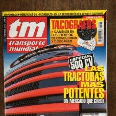 Coches: REVISTA TRANSPORTE MUNDIAL NÚMERO 178 DE 2002 CAMION SCANIA. Lote 159489394