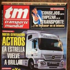 Coches: REVISTA TRANSPORTE MUNDIAL NÚMERO 186 DE 2002 CAMION MERCEDES SCANIA. Lote 159489704