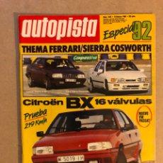 Coches: AUTOPISTA N° 1492 (1988). CITROËN BX 16V, THEMA FERRARI VS SIERRA COSWORTH, VW PASSAT,.... Lote 159593710