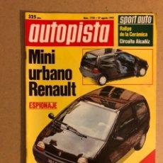 Coches: AUTOPISTA N° 1728 (1992). BMW 850I, HONDA CIVIC VTI, MAZDA MX5, PORSCHE 911 CARRERA 2, SEAT MARBELLA. Lote 159704858