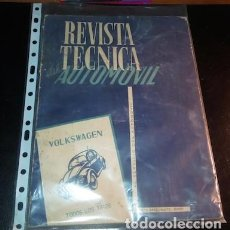 Coches: REVISTA TÉCNICA DEL AUTOMÓVIL Nº 6, VOLKSWAGEN TODOS LOS TIPOS, 1958. Lote 159784970