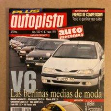 Coches: AUTOPISTA N° 1807 (1994). V6 (LAGUNA, ALFA 155, MAZDA 626, VECTRA, SAAB 900, PASSAT), CITROËN AX,. Lote 160042000