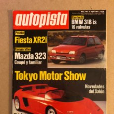 Coches: AUTOPISTA N° 1580 (1989). PRUEBA FORD FIESTA XR2I, MAZDA 323, BMW 318 IS 16V, PINIFARINA,.... Lote 160049174
