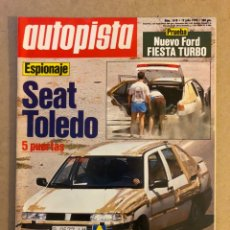 Coches: AUTOPISTA N° 1618 (1990). FORD FIESTA TURBO, SEAT TOLEDO, FORD FIESTA RS TURBO, SAAB 9000I 2.3,.... Lote 160050845
