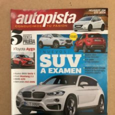 Coches: AUTOPISTA N° 2904 (2015). MAZDA CX-3, BMW SERIE 1, FORD MUSTANG, BMW 535I, PEUGEOT 208 GTI 30TH,.... Lote 160180493