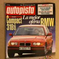 Auto: AUTOPISTA N° 1841 (1994). BMW 318 TI COMPACT, BENTLEY TURBO R, ROLLS ROYCE FLYING SPUR, FIAT 500,.... Lote 160193288