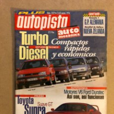 Coches: AUTOPISTA N° 1829 (1994€. TOYOTA SUPRA GT, VW GOLF, FORD ESCORT, PEUGEOT 306, RENAULT 19,.... Lote 160193584