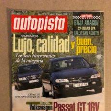Coches: AUTOPISTA N° 1828 (1994). AUDI A6 2.6 VS OPEL OMEGA CD 2.5, VOLKSWAGEN PASSAT GT 16V,... Lote 160193604