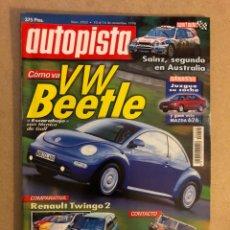 Coches: AUTOPISTA N° 2052 (1998). VW BEETLE, SAINZ RALLYE AUSTRALIA, RENAULT TWINGO 2, FORD KA, SEAT AROSA,.. Lote 160193817