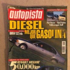Carros: AUTOPISTA N° 1914 (1996). BMW 525 TDS, RENAULT MEGANE, TOYOTA CARINA, VW GOLF, FIAT BRAVO, OPEL ASTR. Lote 160194028