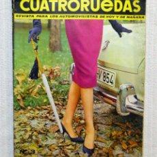 Coches: REVISTA CUATRORUEDAS. Nº 3. AÑO I. MARZO DE 1964. Lote 184841101
