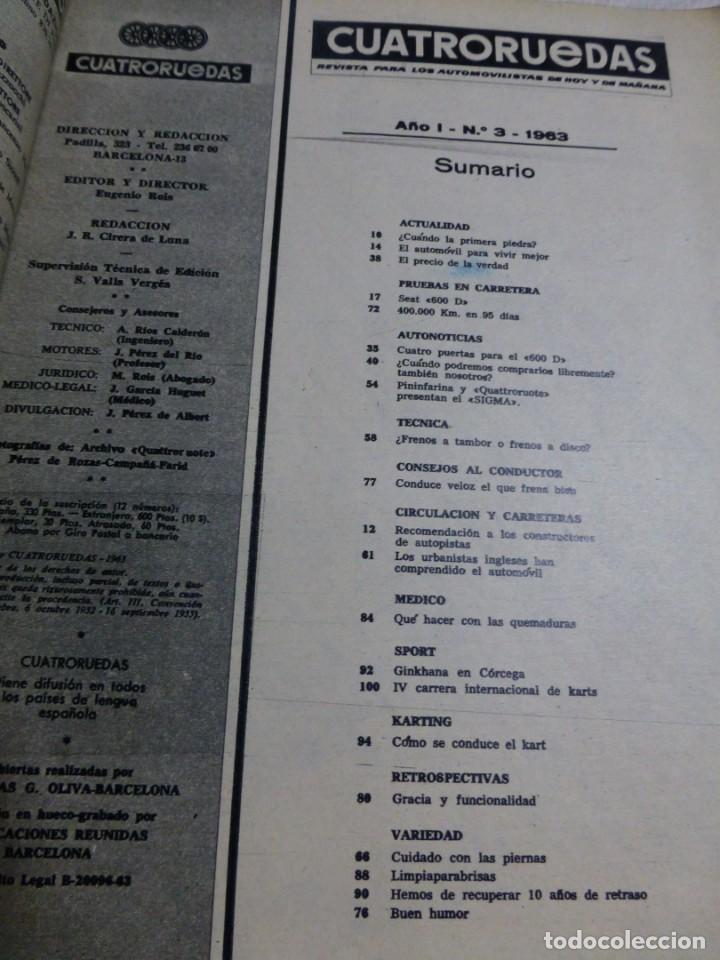 Coches: Revista Cuatroruedas. Nº 3. Año I. Marzo de 1964 - Foto 3 - 184841101