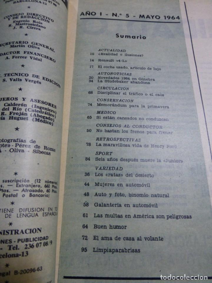 Coches: Revista Cuatroruedas. Nº 5. Año I. Mayo de 1964 - Foto 3 - 184841147