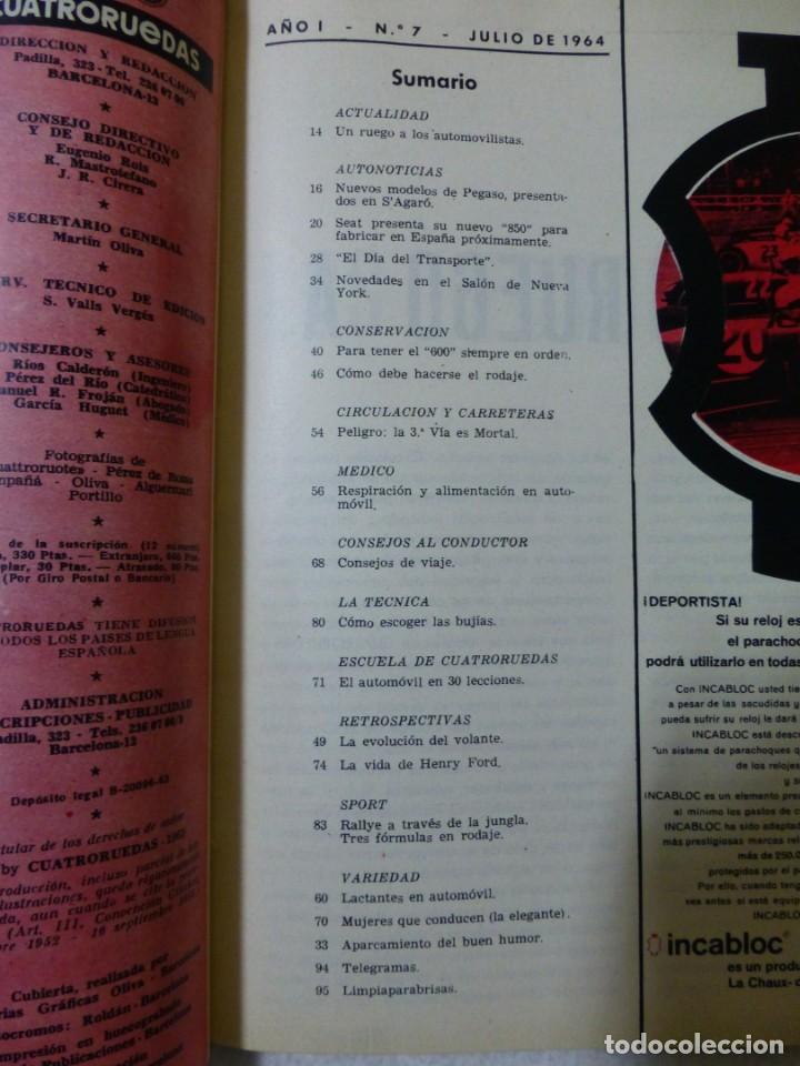 Coches: Revista Cuatroruedas. Nº 7. Año I. Julio de 1964 - Foto 3 - 160463982