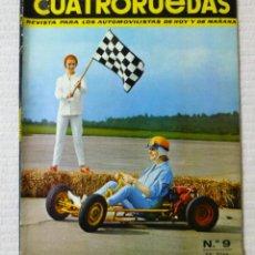 Coches: REVISTA CUATRORUEDAS. Nº 9. AÑO I. SEPTIEMBRE DE 1964. Lote 160464418