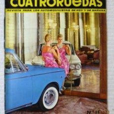Coches: REVISTA CUATRORUEDAS. Nº 11. AÑO I. NOVIEMBRE DE 1964. Lote 160465166