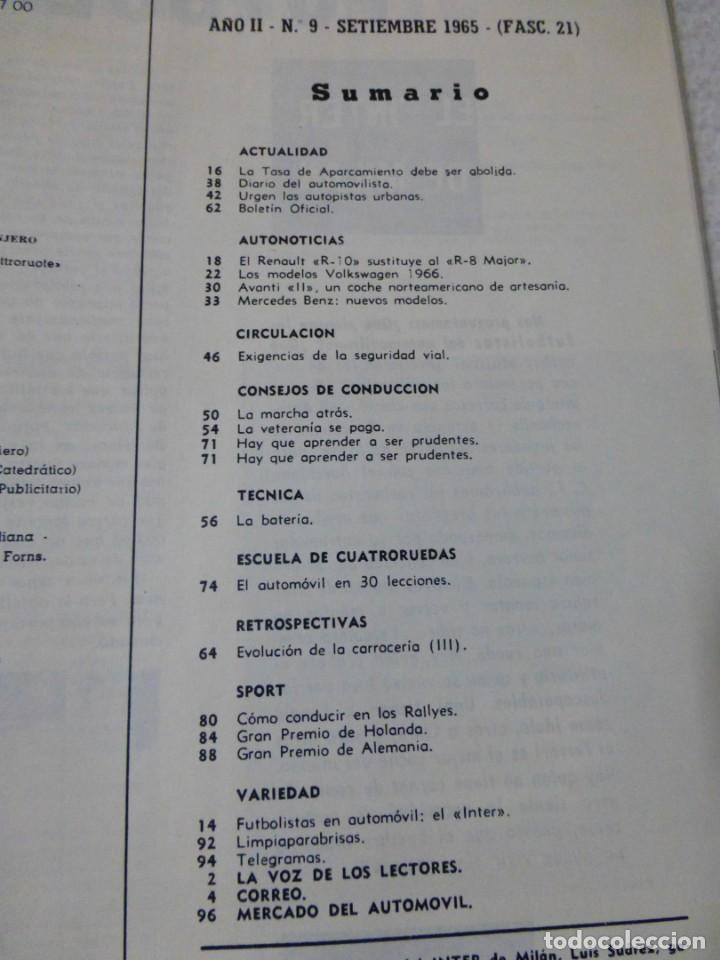 Coches: Revista Cuatroruedas. Nº 21. Año 2. Septiembre de 1965 - Foto 3 - 160467814