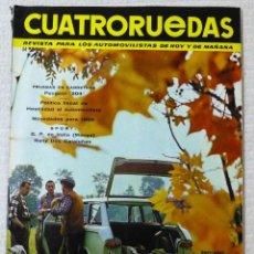 Coches: REVISTA CUATRORUEDAS. Nº 23. AÑO 2. NOVIEMBRE DE 1965. Lote 160468510