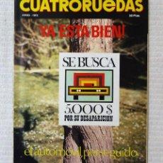 Coches: REVISTA CUATRORUEDAS. Nº 102. AÑO IX. JUNIO DE 1972.. Lote 160514274