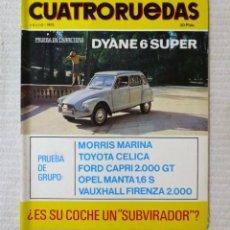 Coches: REVISTA CUATRORUEDAS. Nº 103. AÑO IX. JULIO DE 1972.. Lote 160514342