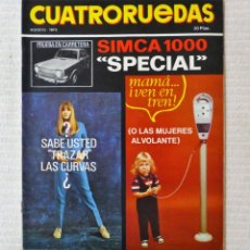 Coches: REVISTA CUATRORUEDAS. Nº 104. AÑO IX. AGOSTO DE 1972.. Lote 160514434