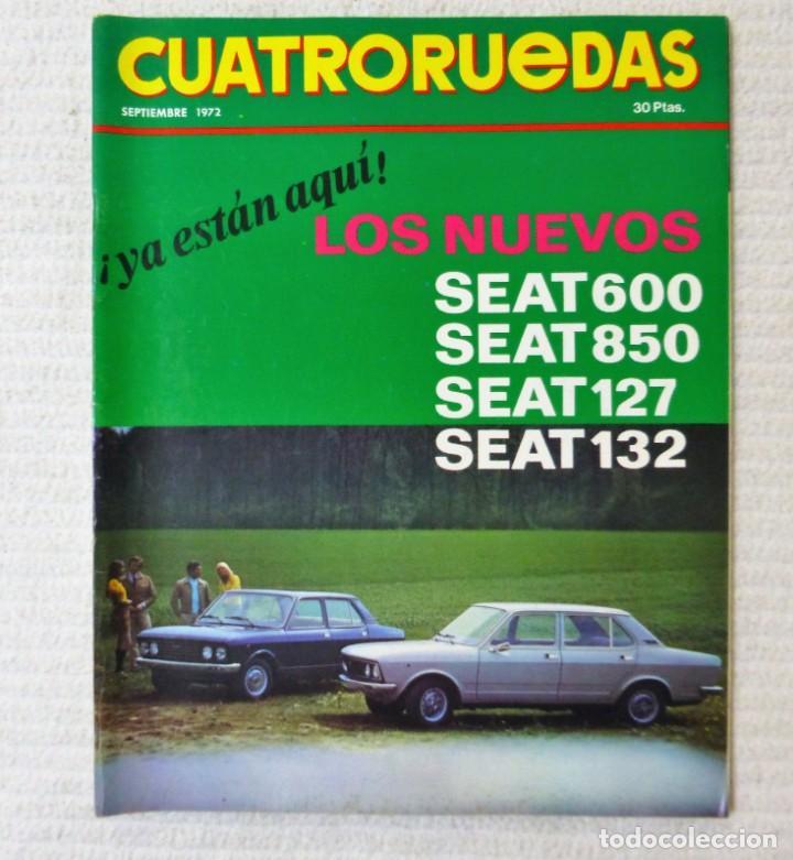 REVISTA CUATRORUEDAS. Nº 105. AÑO IX. SEPTIEMBRE DE 1972. (Coches y Motocicletas Antiguas y Clásicas - Revistas de Coches)