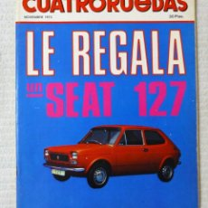 Coches: REVISTA CUATRORUEDAS. Nº 107. AÑO IX. NOVIEMBRE DE 1972.. Lote 160514774