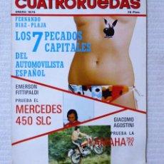 Coches: REVISTA CUATRORUEDAS. Nº 133. AÑO XII. ENERO DE 1975. Lote 160520698