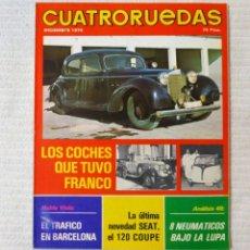 Coches: REVISTA CUATRORUEDAS. Nº 144. AÑO XII. DICIEMBRE DE 1975. Lote 160521810