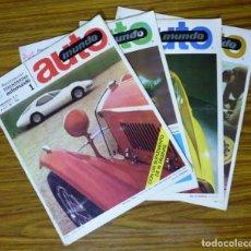 Coches: LOTE 14 REVISTAS AUTOMUNDO. AÑO 1967. INCLUYE NÚMEROS: 1, 2, 3, 4, 5, 6, 7, 8, 9, 10, 11, 12, 13, 15. Lote 160735154