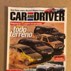 Coches: CAR AND DRIVER N° 48 (1999). ESPECIAL TODO TERRENO, JAGUAR XK 180, AUDI TT ROADSTER, BMW SERIE 3 TOU. Lote 160894705