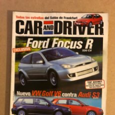 Coches: CAR AND DRIVER N°49 (1999). VW GOLF V6 VS AUDI S3, FORD FOCUS R, AUDI S6,.... Lote 160894786