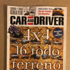 Coches: CAR AND DRIVER N°12 (1996). ESPECIAL 4X4 TODO TERRENO, MERCEDES SLK,... Lote 160895106