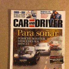 Coches: CAR AND DRIVER N°15 (1996). SUPLEMENTO GUÍA, PORSCHE BOXTER, BMW Z3, MERCEDES SLK,.... Lote 160895142