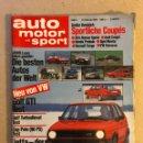 Coches: AUTO MOTOR UND SPORT (1984). ALEMANA. VOLKSWAGEN GOLF GTI TEST, ALFA ROMEO SPRINT , AUDI COUPÉ, VW S. Lote 160896162